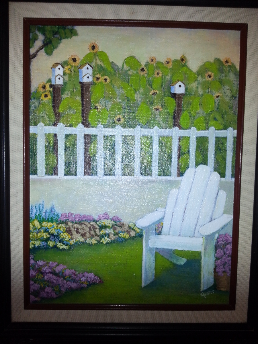 cottage garden painting