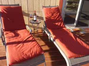 deck lounges wine